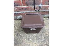 Container to store veg etc for compost bin (brown)