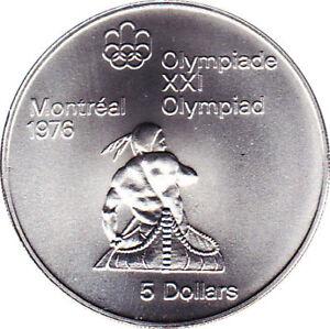 Monnaie olympique 1976  Canoe-kayak 5$ (encapsulée)