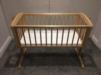 Mothercare Swinging Crib with Foam Mattress