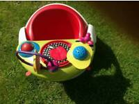 Mamas and Papas baby snug / floor seat with tray