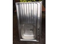 stainless roll top sink