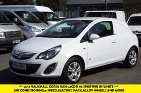2014 VAUXHALL CORSA SPORTIVE 1.3CDTI 95 DIESEL VAN WITH AIR CONDITIONING,6 SPEED