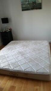 King size boxspring and mattress