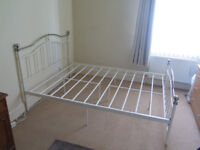 Double Bed Frame - Ivory metal