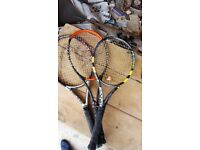 3 tennis racquets and 4 badminton racquets for sale!!