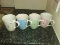 Four Cath Kidston mugs £12ono