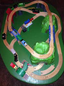 Thomas the Train wooden playtable, with trains