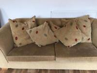 Three seater fabric sofa, excellent condition, from John Lewis (used)