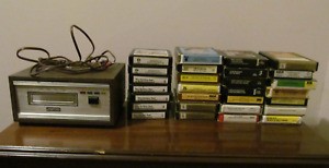 FUTURA Home 8 Track Player with 28 various tapes