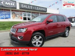 """2016 Jeep Compass Sport  4X4, LEATHER, ROOF, HS, BT, 17"""" ALLOYS"""