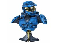 Halo 1:2 scale bust (BLUE) one2one collectibles statue master chief