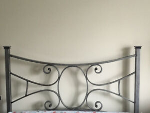 QUEEN BED, box spring, headboard and footboard!!!