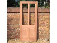 Brand New Exterior Hardwood Door, glazed beads