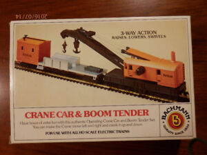 H0 gauge Bachmann  CRANE  & HOIST 3 way movable  NEW in box