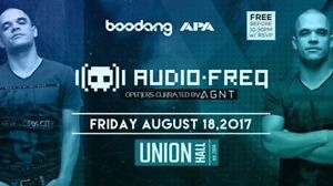 Audiofreq @ Union Hall August 18th Free before 10:30