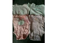 Baby girl vests / pink / 3-6 months