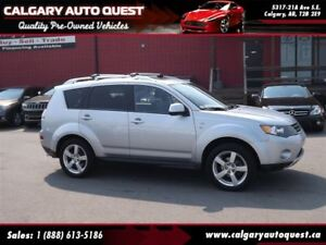 2009 Mitsubishi Outlander XLS 4WD/NAVI/DVD/3RD ROW/LEATHER