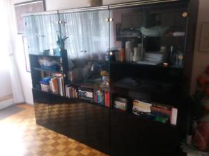 Ensemble d'armoires or & noire - Black and Gold cabinet set
