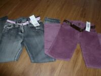 Girls jeans and cords