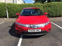 2009 5dr Honda Civic 1.8 i-vetc, full leather seats, 2 previous owners, tax, MOT till Jan