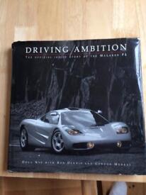 Rare - McLaren F1 book - driving ambition