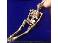 9ct Gold Skeleton Pendant