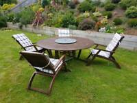Large Garden Table and 6 Chairs