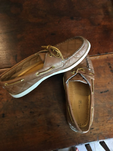 SPERRY topsiders women's size 8.5 Metallic gold