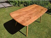 Ercol Blonde Plank Table Model 382 with refurbished top