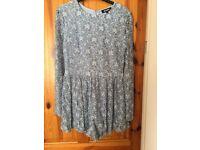Women's floral lace playsuit size 12