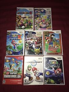 Mario games for Nintendo Wii and accessories