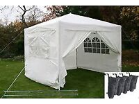 GAZEBO 3MX3M FRAME - ONLY- NEW with Guy ropes and pegs included