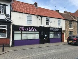 Commercial Property Shop with A3 use in Bishop Auckland Market place County Durham