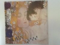 Mother and baby canvas print by Gustav Klimt.