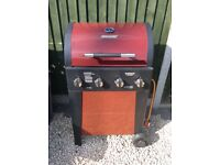 Brinkman gas BBQ including full gas canister and cover