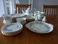 26 piece, Royal Albert , Brigadoon tea set