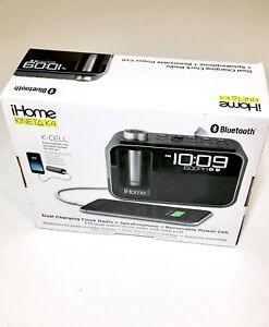 IHome Kineta Bluetooth Alarm Radio with Portable Power
