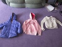 Girls age 6- Autumn winter bundle, coat, hoodie and jacket/cardi