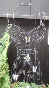 Beautiful wire bust form for a shop or garden