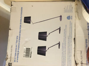 BNIB 2 matching table lamps and one floor lamp for sale