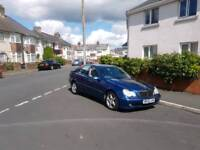Automatic Diesel Mercedes C Class 220 in Navy blue 2002 reg in good condition ,px welcome
