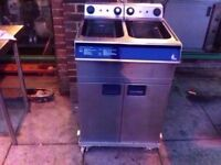 CHIPS COMMERCIAL DOUBLE TANK FASTFOOD CATERING MACHINE FISH CHICKEN NUGGETS TAKEAWAY SHOP RESTAURANT