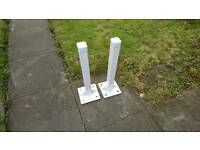 Two security post, bollards