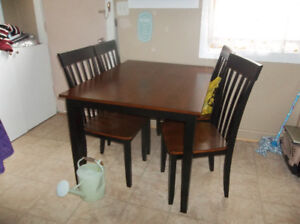table and chairs like new.