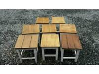 Vintage rustic stools