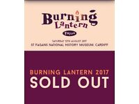 x2 Adult Tickets to Burning Lantern Festival in St Fagans 12/08