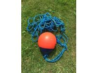Orange Buoy with rope approx 12 inch diameter pear shape, good condition £5