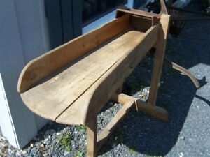 LUNENBURG NOVA SCOTIA STRAW CUTTER WOOD FRAME & CAST IRON -OFFER
