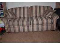 4 seater sofa incorporating a double bed and mattress in good condition