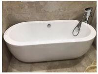 Modern acrylic bath Rrp £599